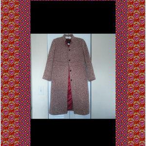 J. Crew Jackets & Coats - J. Crew  Pink Wool Tweed Military COAT SZ P4
